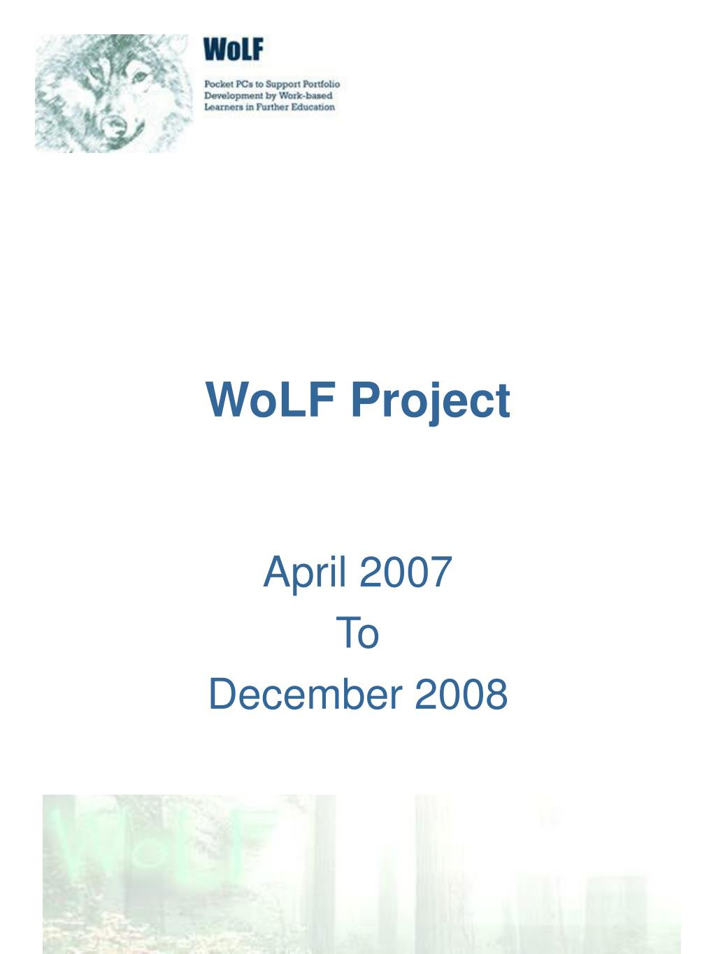 wolf project l.
