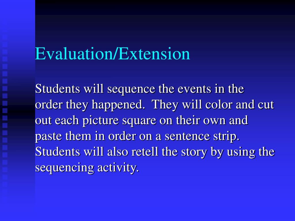 Evaluation/Extension