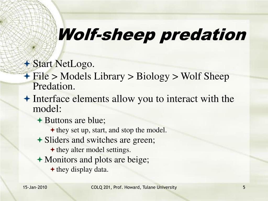 Wolf-sheep predation