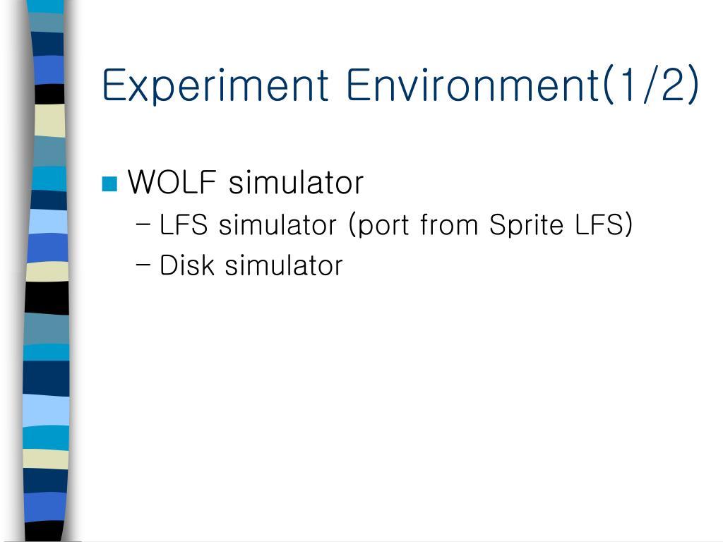 Experiment Environment(1/2)