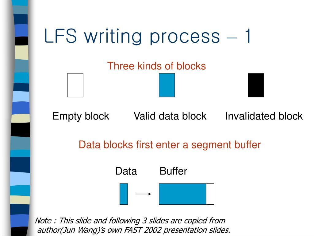 LFS writing process