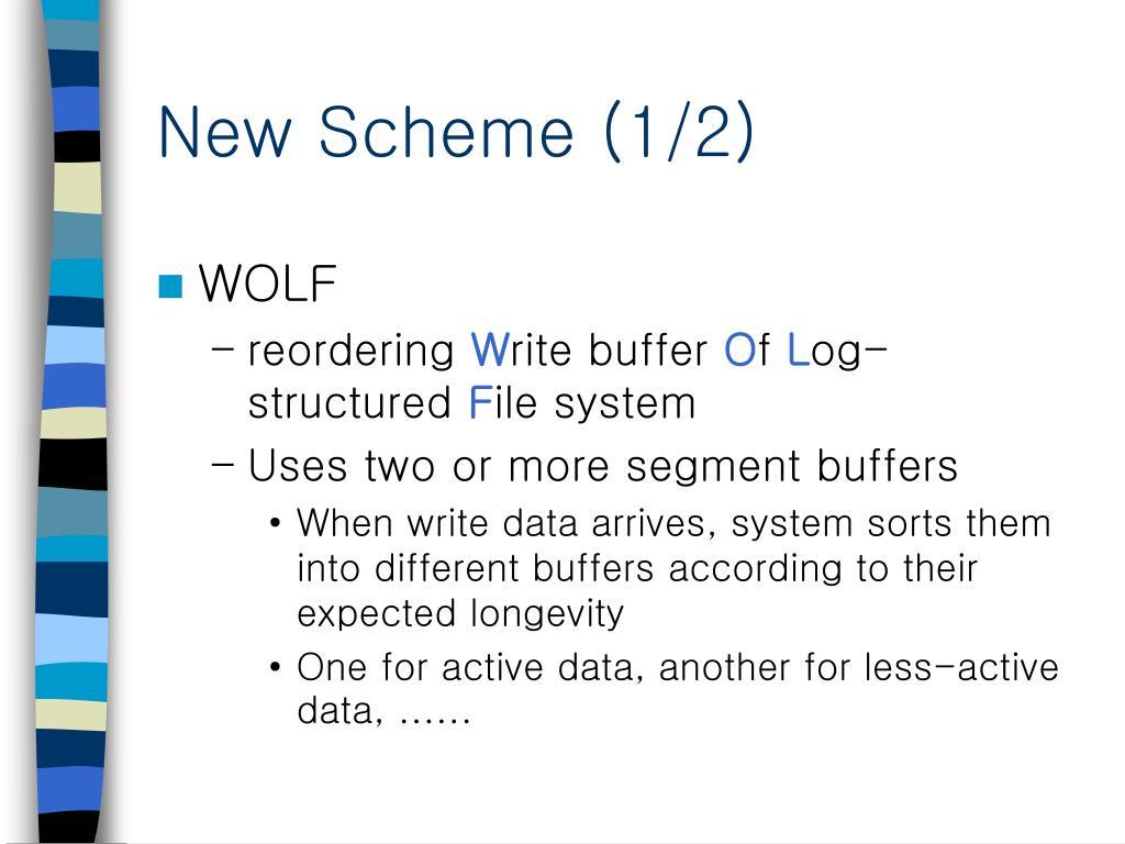 New Scheme (1/2)