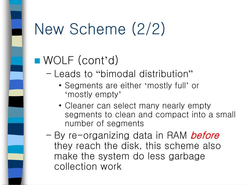 New Scheme (2/2)