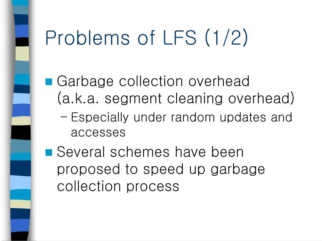 Problems of LFS (1/2)