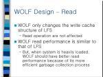 wolf design read