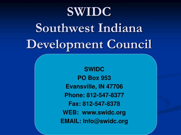 Swidc southwest indiana development council