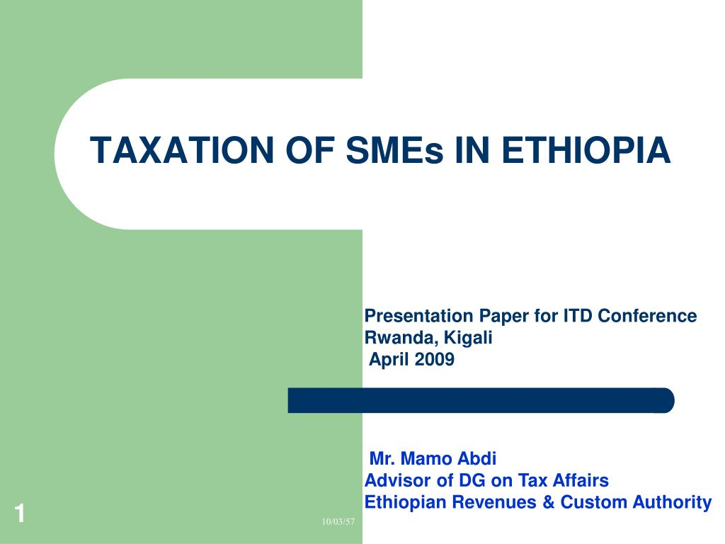 taxation of smes in ethiopia l.