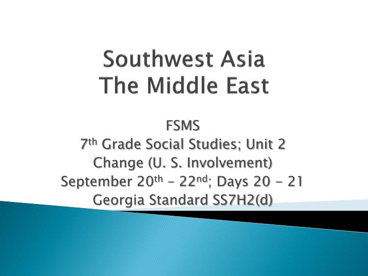 southwest asia the middle east n.