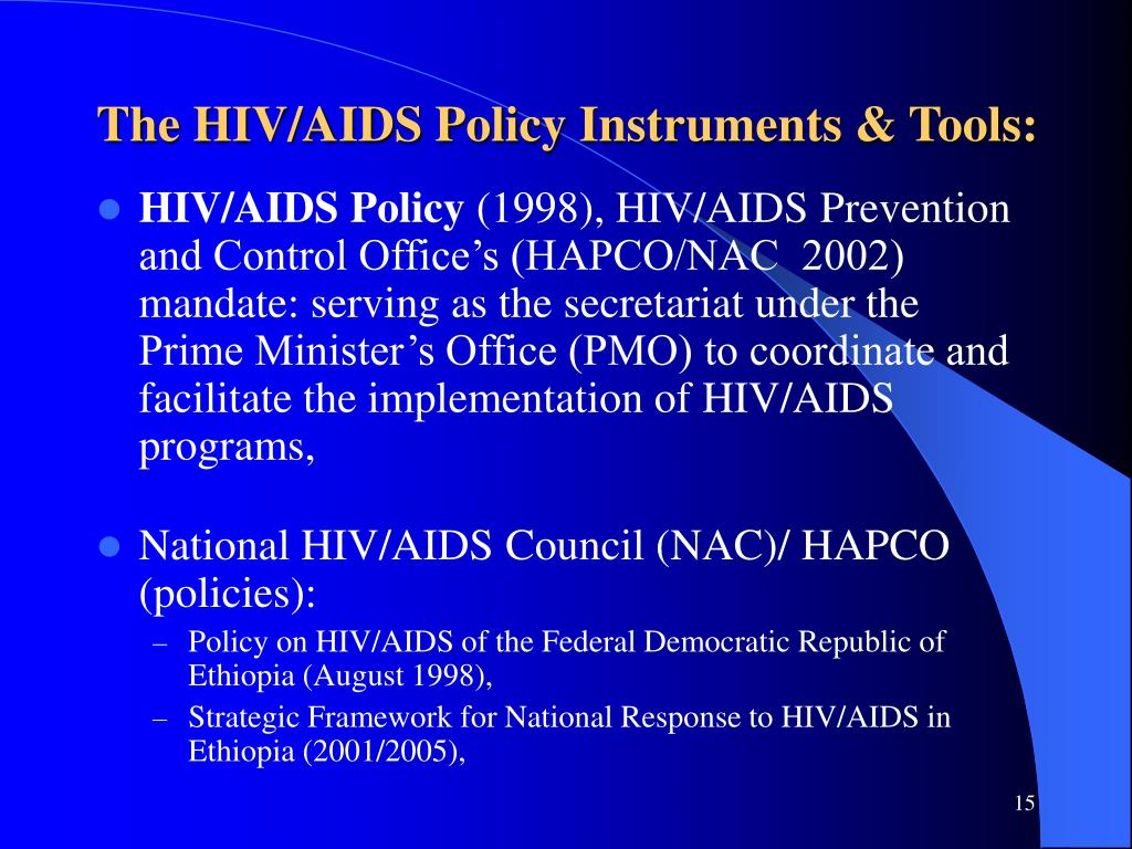The HIV/AIDS Policy Instruments & Tools: