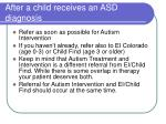 after a child receives an asd diagnosis