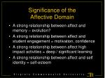 significance of the affective domain