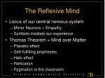 the reflexive mind1