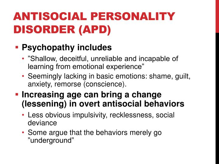 Antisocial Personality