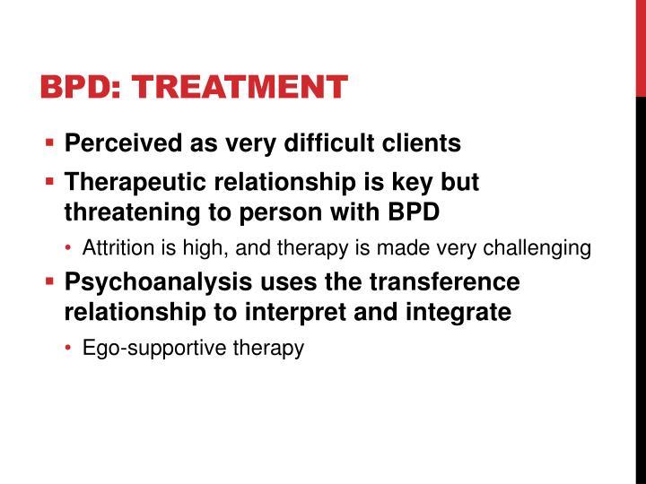 BPD: Treatment