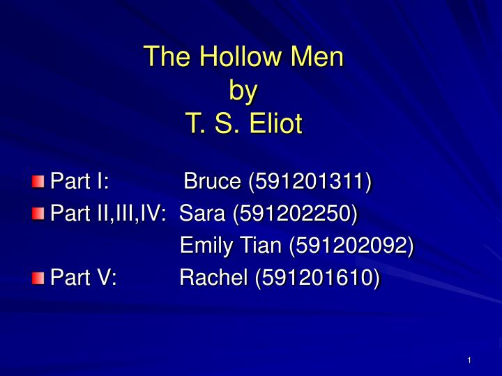 the hollow men by t s eliot n.