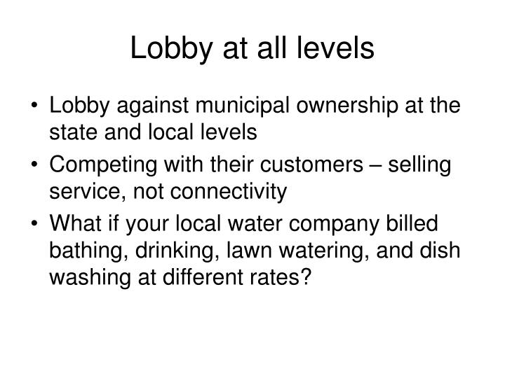 Lobby at all levels