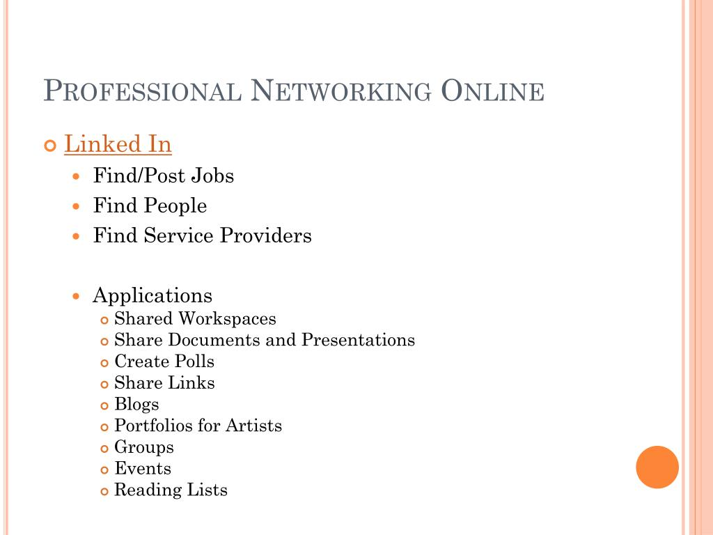 Professional Networking Online