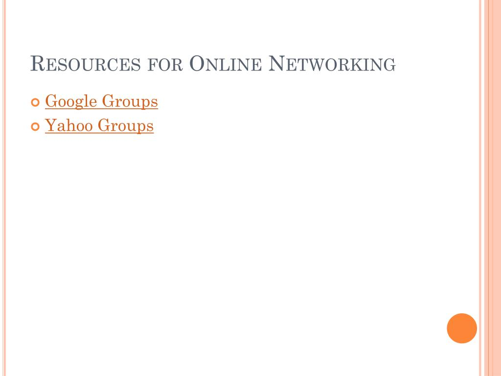 Resources for Online Networking