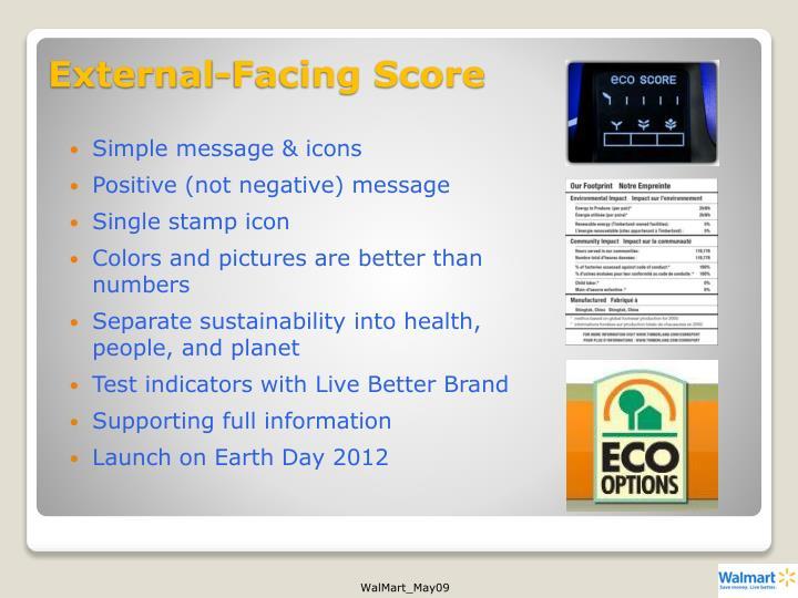 External-Facing Score