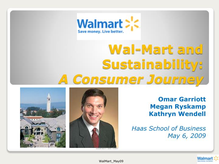Wal mart and sustainability a consumer journey