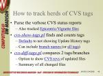 how to track herds of cvs tags