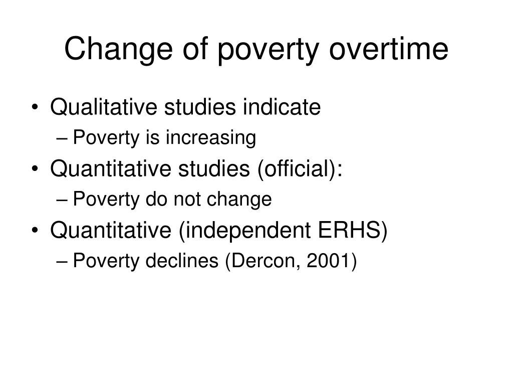 Change of poverty overtime