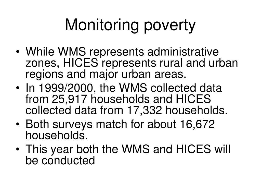Monitoring poverty