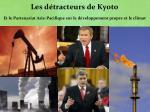 les d tracteurs de kyoto et le partenariat asie pacifique sur le d veloppement propre et le climat