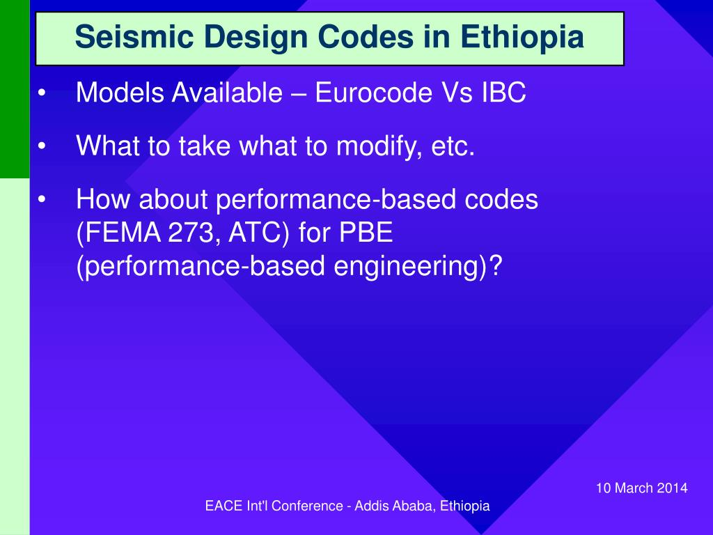 Seismic Design Codes in Ethiopia