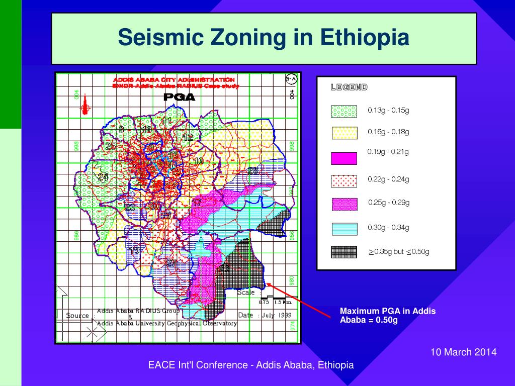 Seismic Zoning in Ethiopia