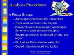 analysis procedures