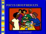 focus group results