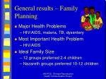 general results family planning