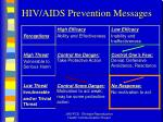hiv aids prevention messages