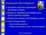 instrument development
