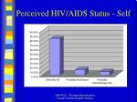 perceived hiv aids status self