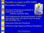 variables to target in hiv aids prevention messages56