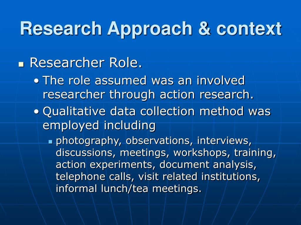 a research about the role of