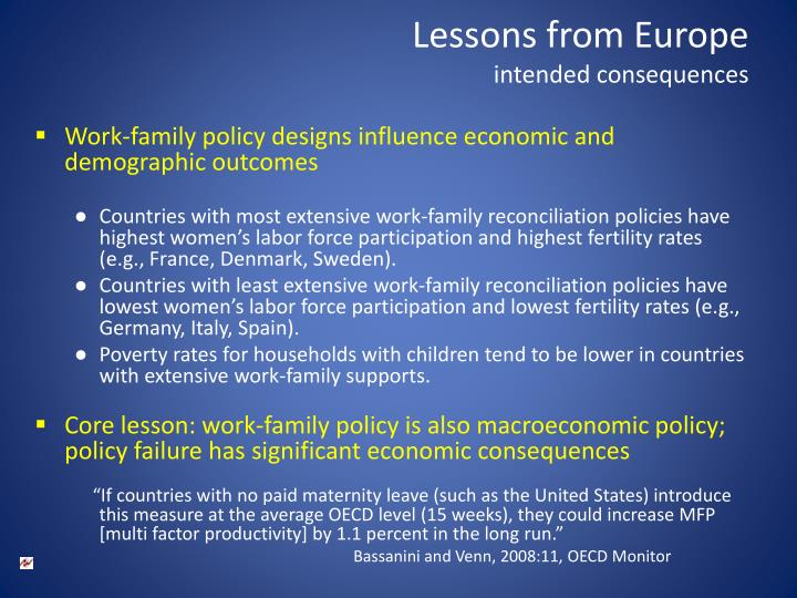 Lessons from Europe