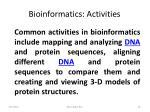 bioinformatics activities