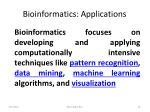 bioinformatics applications