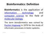 bioinformatics definition