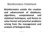 bioinformatics entailment