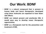our work bdnf