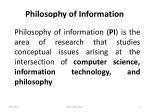 philosophy of information
