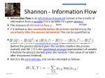 shannon information flow