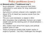 policy problems cont