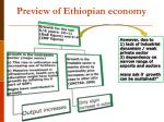 preview of ethiopian economy