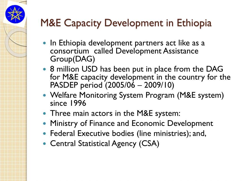 M&E Capacity Development in Ethiopia