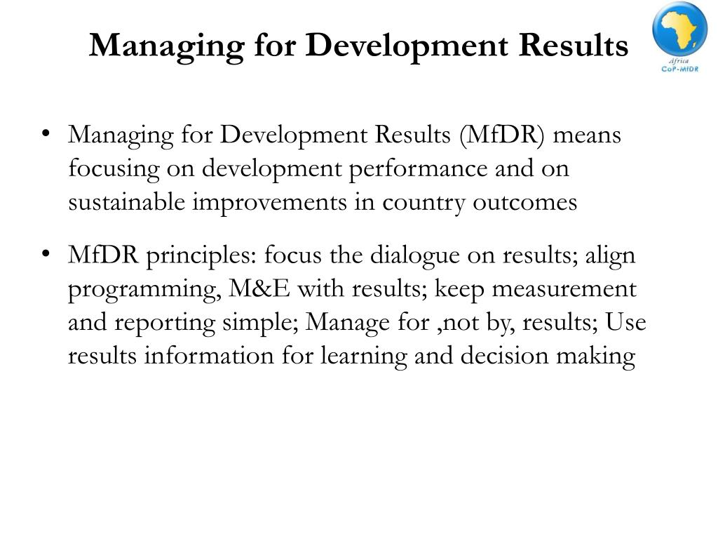 Managing for Development Results